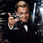gatsby smirking with champagne