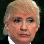 Hillary with Trump hair